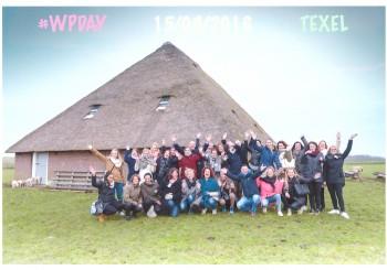 Groepsfoto Weddingplannderdag 15-03-2016 Texel